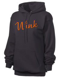 Crafted for comfort, this lighter weight embroidered Wink High School Wildcats hooded sweatshirt is perfect for relaxing.  A must have hoody for the serious Wink High School Wildcats apparel and merchandise collection. 50/50 cotton/poly fleece hoodie with two-ply hood, dyed-to-match drawcord, set-in sleeves, and front pouch pocket round out the features of a Wildcats hooded sweatshirt.