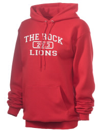 Crafted for comfort, this lighter weight embroidered The Rock School Lions hooded sweatshirt is perfect for relaxing.  A must have hoody for the serious The Rock School Lions apparel and merchandise collection. 50/50 cotton/poly fleece hoodie with two-ply hood, dyed-to-match drawcord, set-in sleeves, and front pouch pocket round out the features of a Lions hooded sweatshirt.