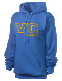 Crafted for comfort, this lighter weight embroidered Valley Christian Academy Lions hooded sweatshirt is perfect for relaxing.  A must have hoody for the serious Valley Christian Academy Lions apparel and merchandise collection. 50/50 cotton/poly fleece hoodie with two-ply hood, dyed-to-match drawcord, set-in sleeves, and front pouch pocket round out the features of a Lions hooded sweatshirt.