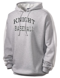 Get a little two-tone style with this custom tackle twill Knight High School Hawks hoodie. It's colorfast so it will look sharp wash after wash, and it resists shrinking so it will keep its roomy fit. The sleeve stripe helps it stand apart from the rest of the hoodies in the crowd.
