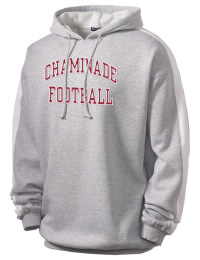 Get a little two-tone style with this custom tackle twill Chaminade High School Flyers hoodie. It's colorfast so it will look sharp wash after wash, and it resists shrinking so it will keep its roomy fit. The sleeve stripe helps it stand apart from the rest of the hoodies in the crowd.