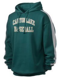 Get a little two-tone style with this custom tackle twill Canyon Lake High School Hawks hoodie. It's colorfast so it will look sharp wash after wash, and it resists shrinking so it will keep its roomy fit. The sleeve stripe helps it stand apart from the rest of the hoodies in the crowd.