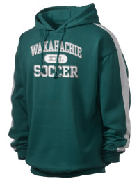 Get a little two-tone style with this custom tackle twill Waxahachie High School Indians hoodie. It's colorfast so it will look sharp wash after wash, and it resists shrinking so it will keep its roomy fit. The sleeve stripe helps it stand apart from the rest of the hoodies in the crowd.