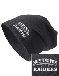 On the street or on the slopes, stay warm and look cool in this Huntington High School Raiders knit hat. An acyrlic/polyester blend beanie with a snug yet slouchy fit. Embroidery will not be on center front, but off centered to the left.