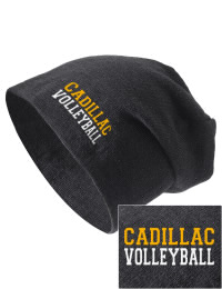 On the street or on the slopes, stay warm and look cool in this Cadillac High School Vikings knit hat. An acyrlic/polyester blend beanie with a snug yet slouchy fit. Embroidery will not be on center front, but off centered to the left.