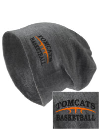 On the street or on the slopes, stay warm and look cool in this Tom Bean High School Tomcats knit hat. An acyrlic/polyester blend beanie with a snug yet slouchy fit. Embroidery will not be on center front, but off centered to the left.