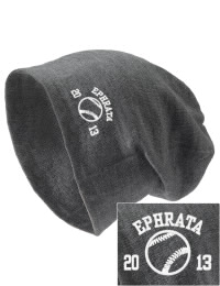 On the street or on the slopes, stay warm and look cool in this Ephrata Middle School Tigers knit hat. An acyrlic/polyester blend beanie with a snug yet slouchy fit. Embroidery will not be on center front, but off centered to the left.