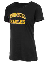 Trumbull High School Eagles Fruit of the Loom Women's 5oz Cotton T-Shirt
