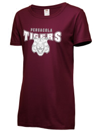 Pensacola High School Tigers Fruit of the Loom Women's 5oz Cotton T-Shirt