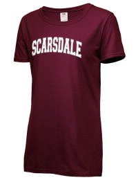 Scarsdale High School Raiders Fruit of the Loom Women's 5oz Cotton T-Shirt