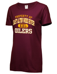 East Alton Wood River High School Oilers Fruit of the Loom Women's 5oz Cotton T-Shirt