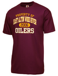 East Alton Wood River High School Oilers Fruit of the Loom Men's 5oz Cotton T-Shirt