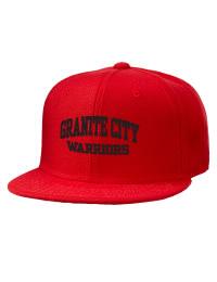 Granite City High School Warriors Embroidered Wool Blend Flat Bill Pro-Style Snapback Cap