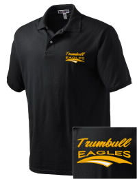 Trumbull High School Eagles Embroidered JERZEES Men's SpotShield? Jersey Polo Shirt