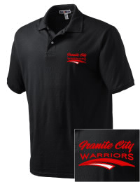 Granite City High School Warriors Embroidered JERZEES Men's SpotShield? Jersey Polo Shirt
