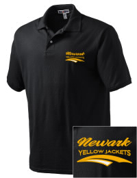 Newark High School Yellow Jackets Embroidered JERZEES Men's SpotShield? Jersey Polo Shirt