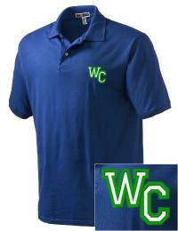 Winston Churchill High School Bulldogs Embroidered JERZEES Men's SpotShield? Jersey Polo Shirt