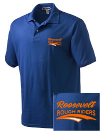 Theodore Roosevelt Senior High School Rough Riders Embroidered JERZEES Men's SpotShield? Jersey Polo Shirt