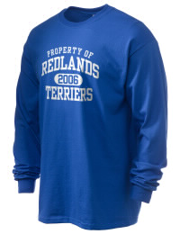 Redlands High School Terriers Gildan Men's 6.1 oz Ultra Cotton Long-Sleeve T-Shirt